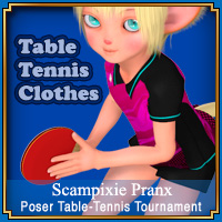 Poser Table-Tennis Tournament Clothes and Props